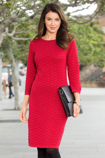 Capture Textured Knit Dress