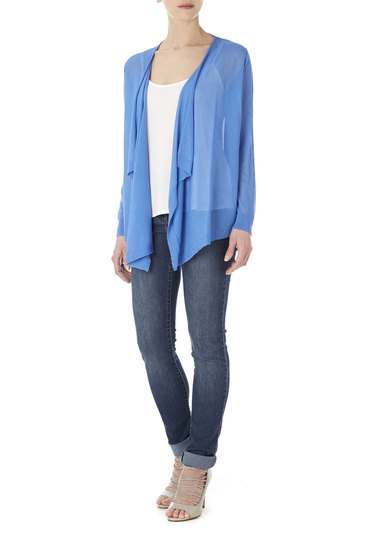 Wallis Crepe Waterfall Cardigan