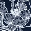 Blue/White Print