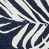 Denim Leaf Print